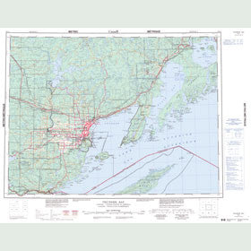 Canadian Topo Map - Thunder Bay - Map 052A