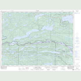 Canadian Topo Map - Arrow Lake - Map 052B01