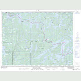 Canadian Topo Map - Basswood Lake - Map 052B04