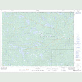 Canadian Topo Map - Marks Lake - Map 052B08