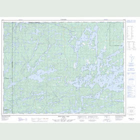 Canadian Topo Map - Bedivere Lake - Map 052B15