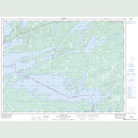 Canadian Topo Map - Seine Bay - Map 052C10