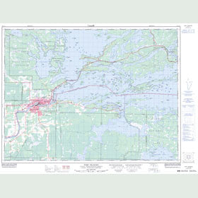 Canadian Topo Map - Fort Frances - Map 052C11
