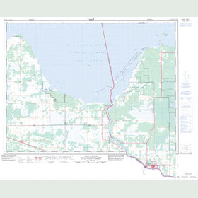 Canadian Topo Map - Rainy River - Map 052D15