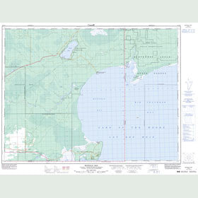 Canadian Topo Map - Buffalo Bay - Map 052E03