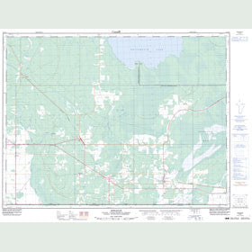 Canadian Topo Map - Sprague - Map 052E04