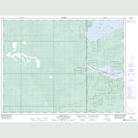 Canadian Topo Map - Berry Point - Map 052E06