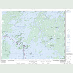 Canadian Topo Map - Falcon Island - Map 052E07