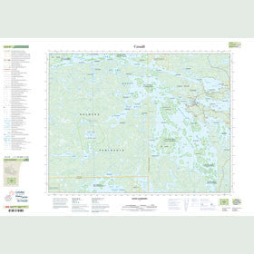 Canadian Topo Map - Sioux Narrows - Map 052E08
