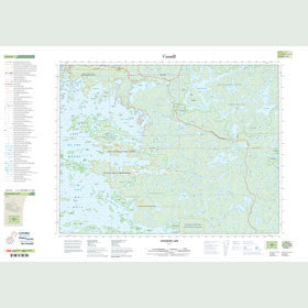 Canadian Topo Map - Longbow Lake - Map 052E09