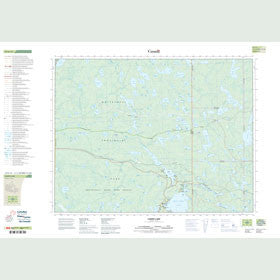 Canadian Topo Map - Caddy Lake - Map 052E14