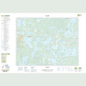 Canadian Topo Map - Caviar Lake - Map 052F05