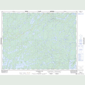 Canadian Topo Map - Lawrence Lake - Map 052F06