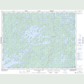 Canadian Topo Map - Upper Manitou Lake - Map 052F07