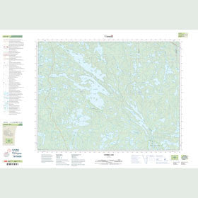 Canadian Topo Map - Stormy Lake - Map 052F08