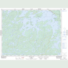 Canadian Topo Map - Osbourne Bay - Map 052F11