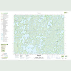 Canadian Topo Map - Dryberry Lake - Map 052F12