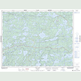 Canadian Topo Map - Feist Lake - Map 052F13