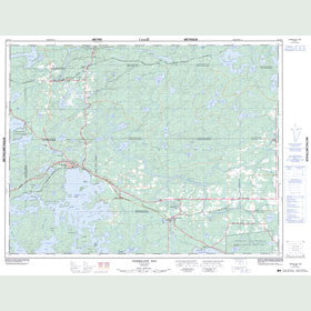 Canadian Topo Map - Vermilion Bay - Map 052F14
