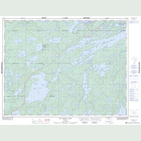Canadian Topo Map - Big Sandy Lake - Map 052F16