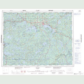 Canadian Topo Map - Dryden - Map 052F