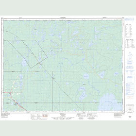 Canadian Topo Map - Upsala - Map 052G01