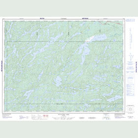 Canadian Topo Map - Gulliver Lake - Map 052G03