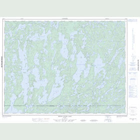 Canadian Topo Map - White Otter Lake - Map 052G04