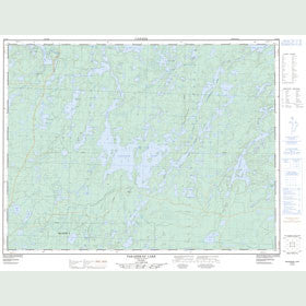 Canadian Topo Map - Pakashkan Lake - Map 052G08