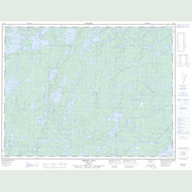 Canadian Topo Map - Empire Lake - Map 052G09