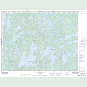 Canadian Topo Map - Mameigwess Lake - Map 052G12
