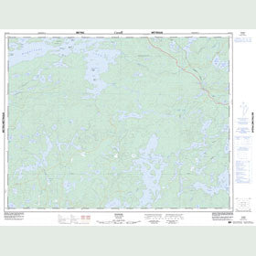 Canadian Topo Map - Yonde - Map 052G13
