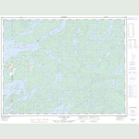 Canadian Topo Map - Glitter Lake - Map 052G15
