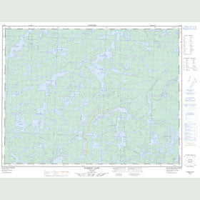 Canadian Topo Map - Harmon Lake - Map 052G16