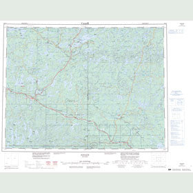 Canadian Topo Map - Ignace - Map 052G