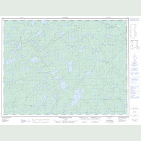 Canadian Topo Map - Eaglehead Lake - Map 052H03