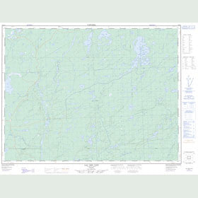 Canadian Topo Map - Lac des Îles - Map 052H04