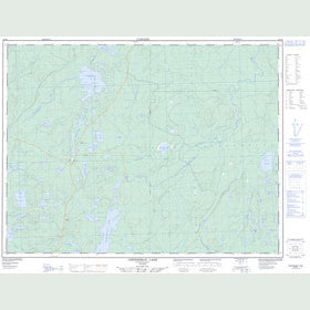 Canadian Topo Map - Cheeseman Lake - Map 052H06