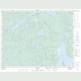 Canadian Topo Map - Gull Bay - Map 052H14