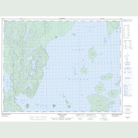 Canadian Topo Map - Castle Lake - Map 052I02