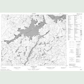 Canadian Topo Map - Mojikit Lake - Map 052I09