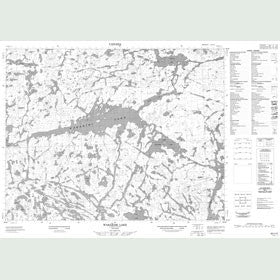Canadian Topo Map - Wabakimi Lake - Map 052I12