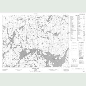 Canadian Topo Map - Grayson Lake - Map 052I14