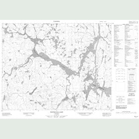 Canadian Topo Map - Whiteclay Lake - Map 052I15