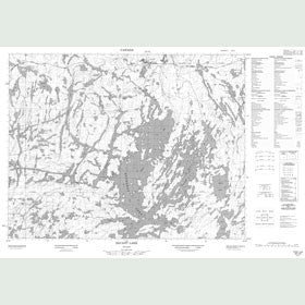 Canadian Topo Map - Savant Lake - Map 052J02