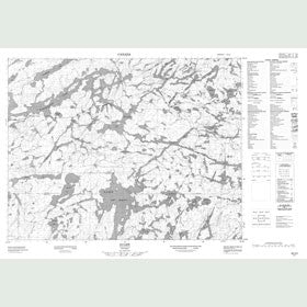 Canadian Topo Map - Ycliff - Map 052J03