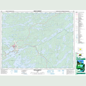 Canadian Topo Map - Sioux Lookout - Map 052J04