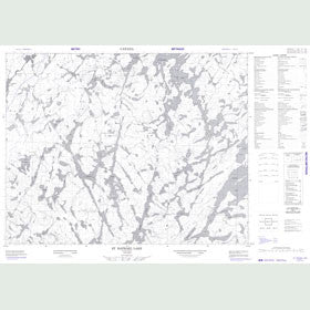 Canadian Topo Map - St. Raphael Lake - Map 052J11