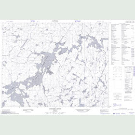 Canadian Topo Map - Anenimus River - Map 052J12