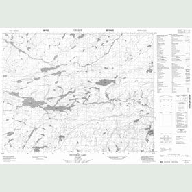 Canadian Topo Map - Otatakan Lake - Map 052J13